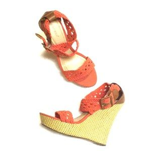 Bamboo Pompey  Wedge Sandals